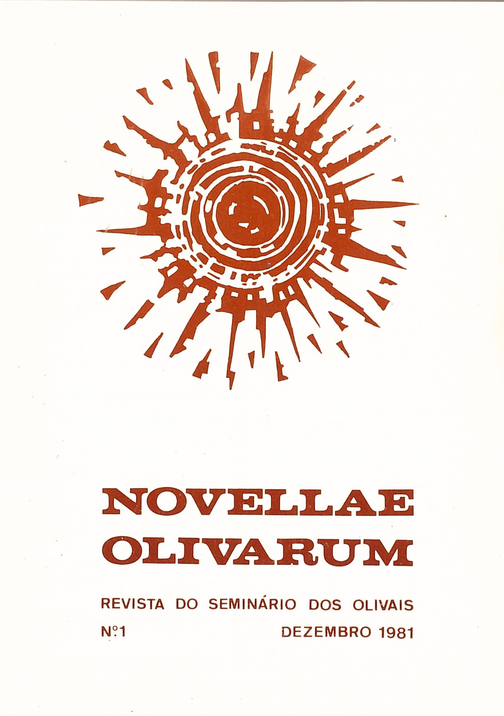 Revista Novellae Olivarum, nº 1 - Dezembro de 1981 (capa)
