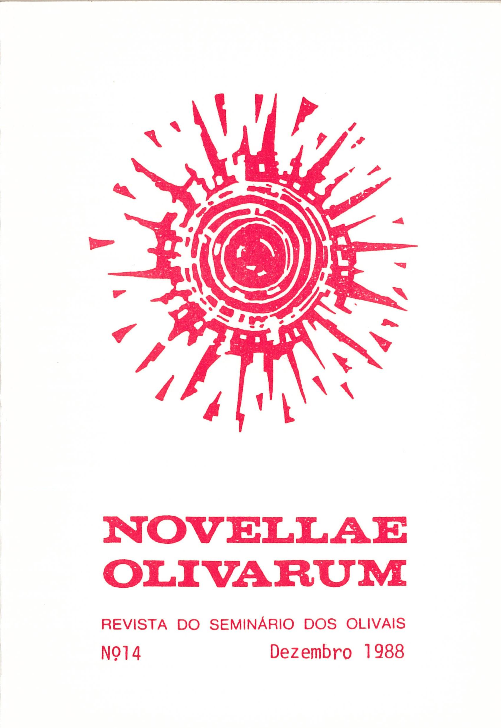Revista Novellae Olivarum, nº 14 - Dezembro de 1988 (capa)
