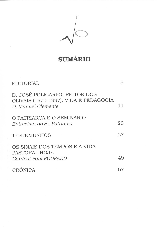 Revista Novellae Olivarum, nº 24 - Fevereiro de 2003 (índice)