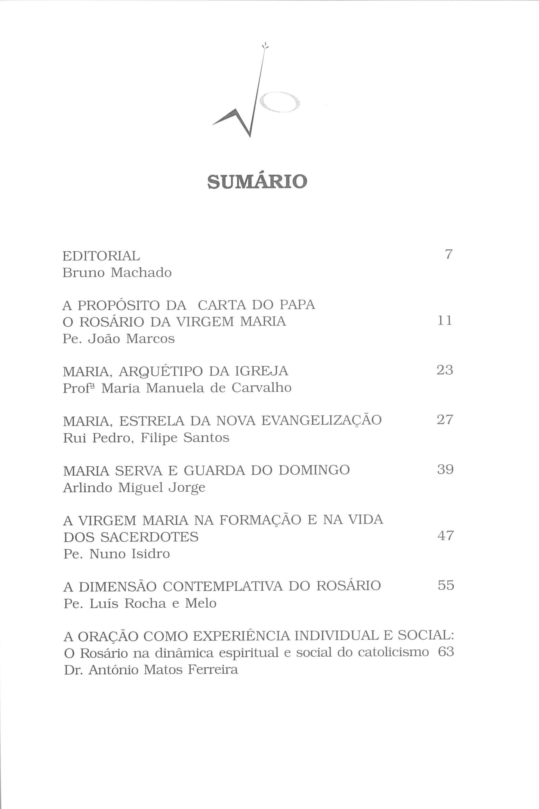 Revista Novellae Olivarum, nº 26 - Outubro de 2003 (índice)