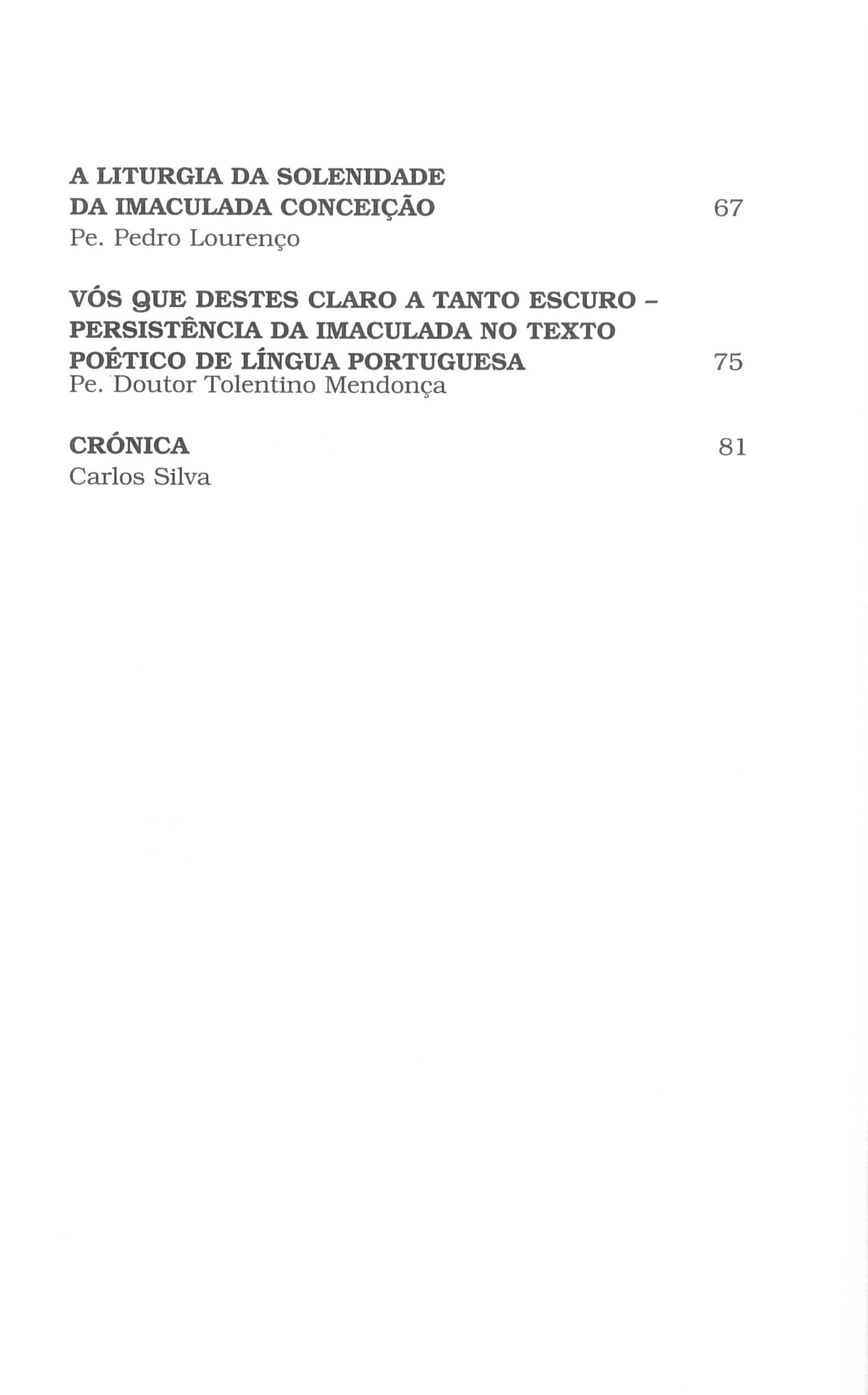 Revista Novellae Olivarum, nº 29 - Novembro de 2004 (índice)