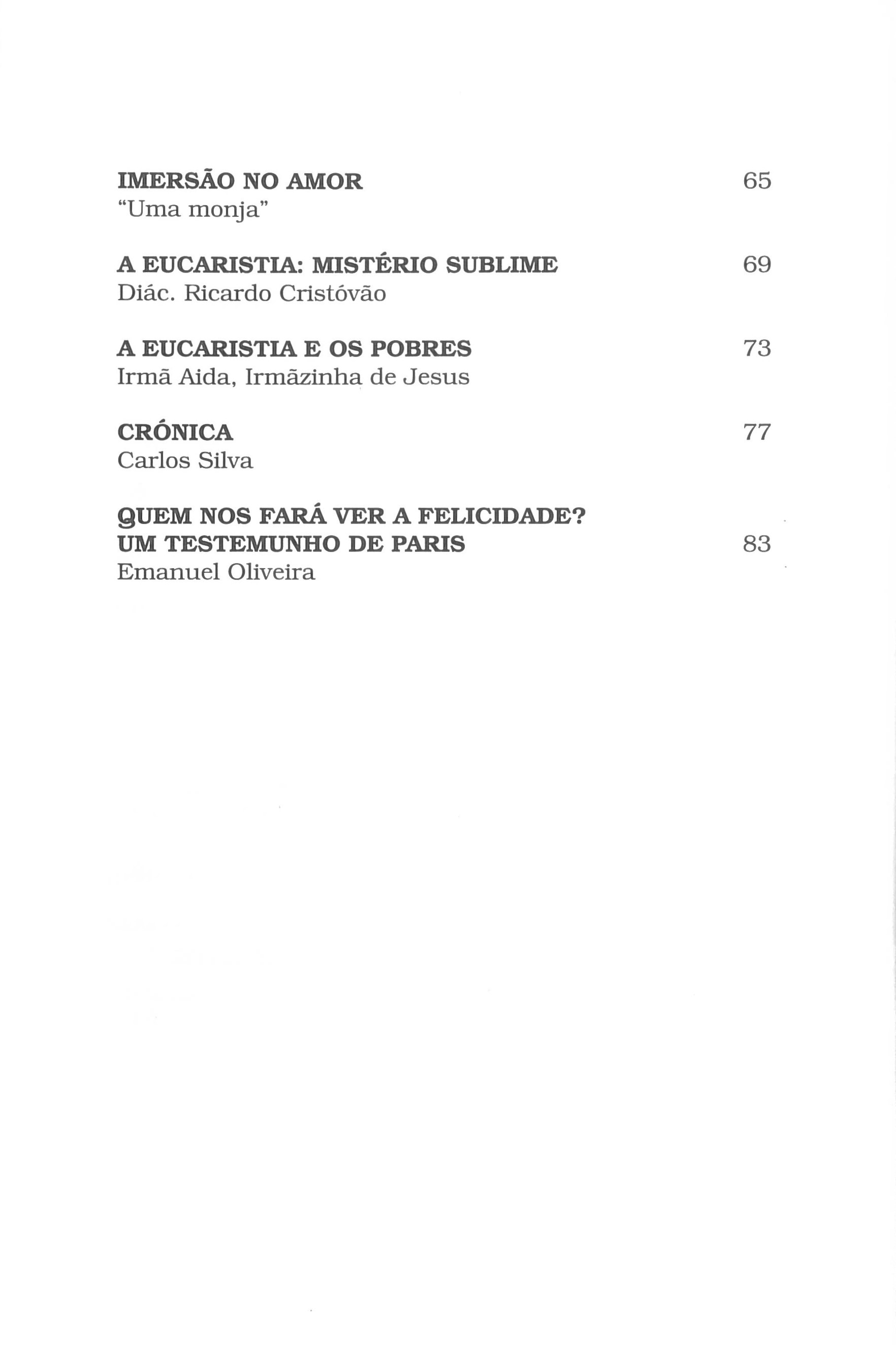 Revista Novellae Olivarum, nº 30 - Março de 2005 (índice)