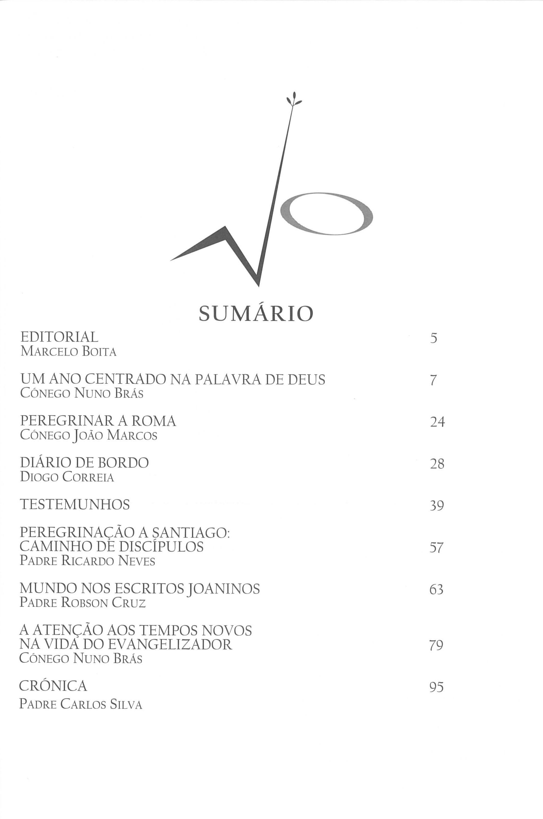 Revista Novellae Olivarum, nº 35 - Outubro de 2007 (índice)