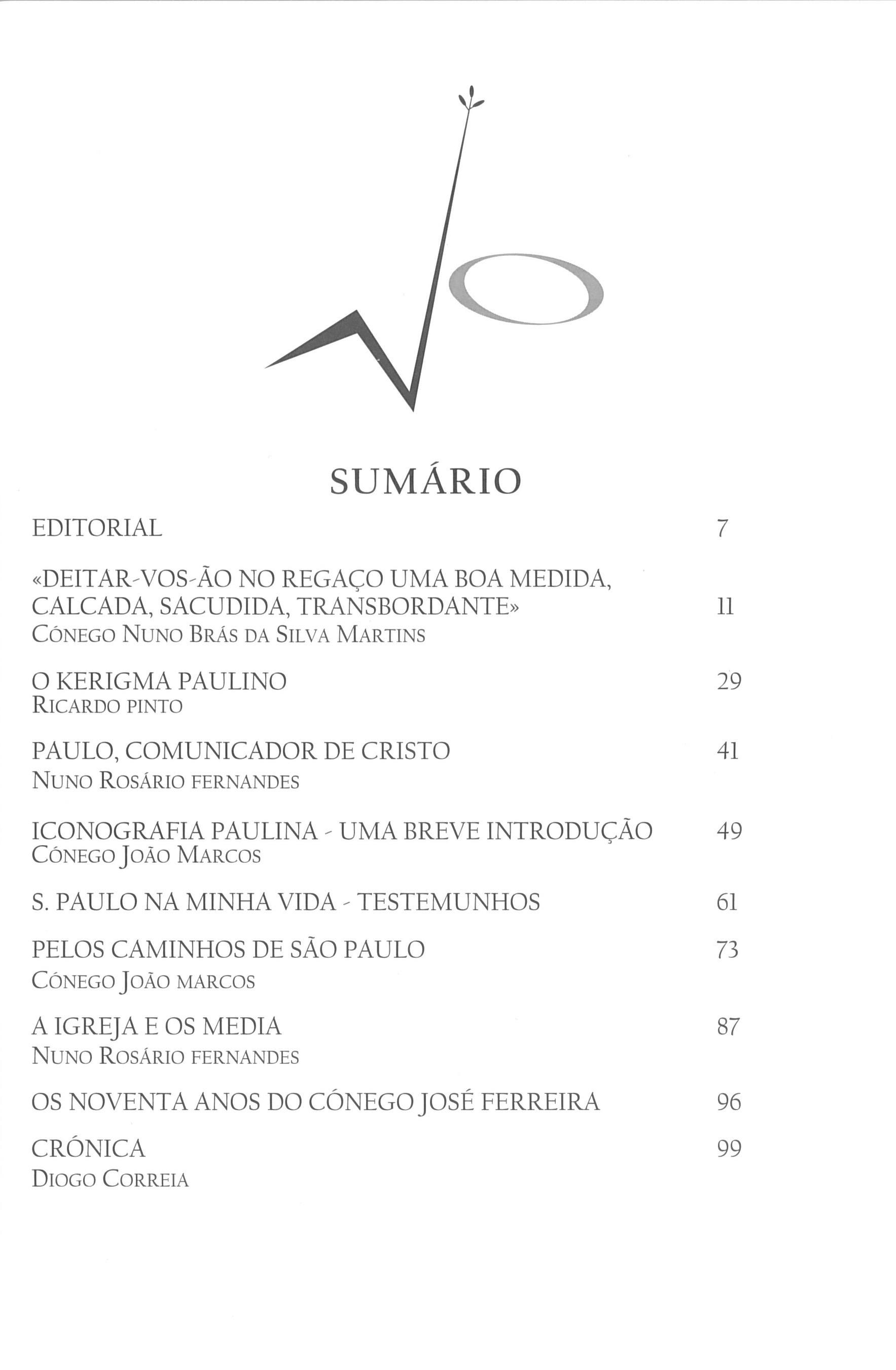 Revista Novellae Olivarum, nº 37 - Novembro de 2008 (índice)