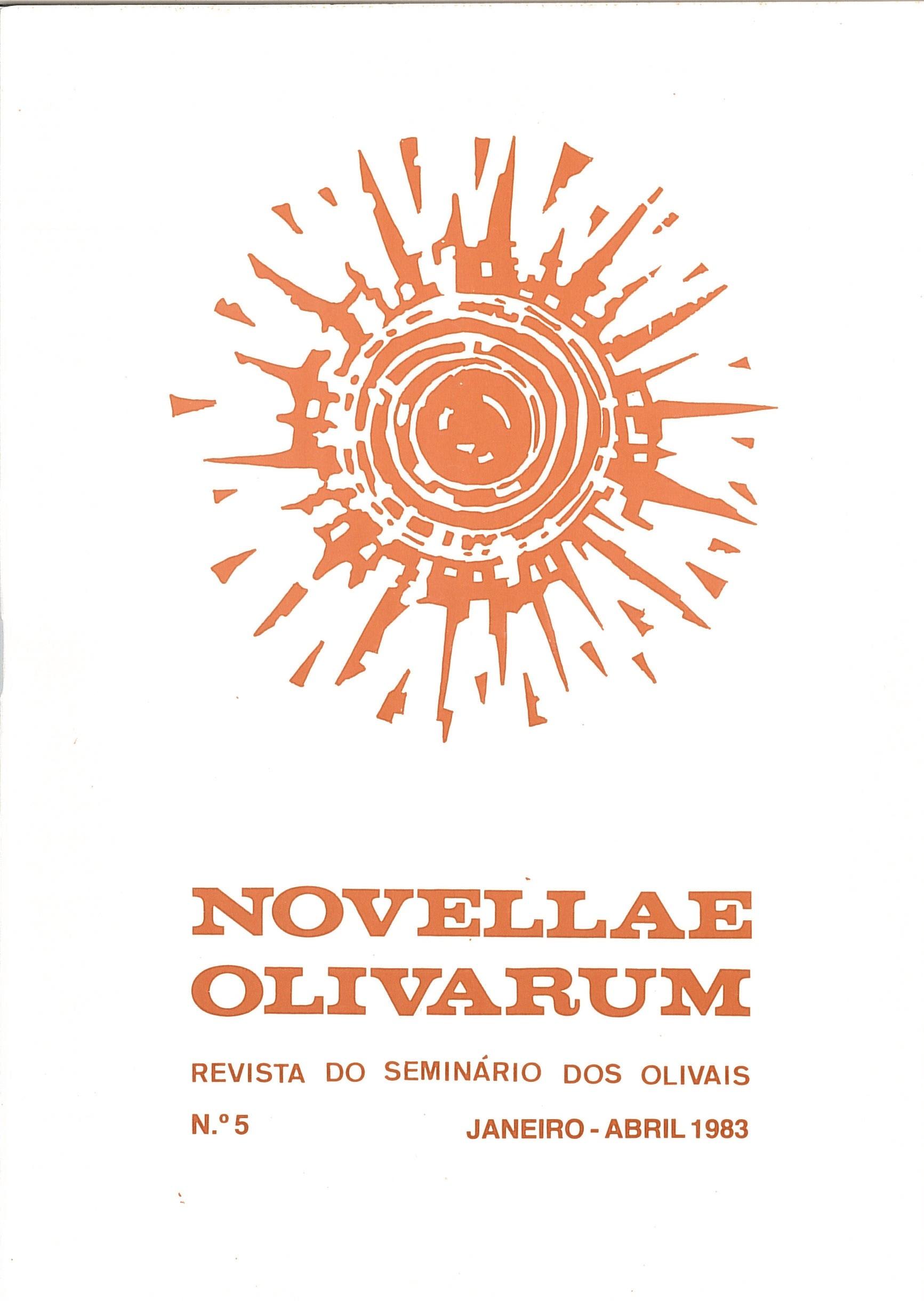Revista Novellae Olivarum, nº 5 - Janeiro/Abril de 1983 (capa)