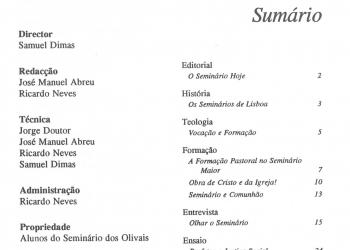 Revista Novellae Olivarum, nº 19 - Junho de 1994 (índice)