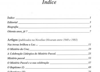 Revista Novellae Olivarum, nº 22 - 1998 (índice)