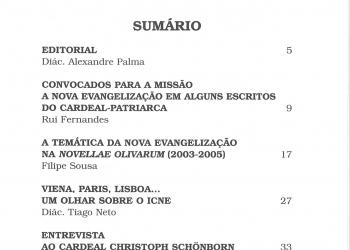Revista Novellae Olivarum, nº 32 - Janeiro de 2006 (índice)
