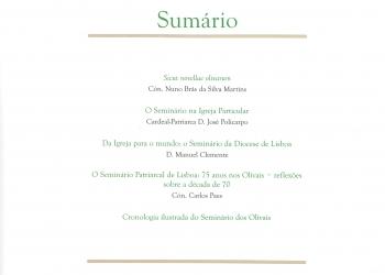 Revista Novellae Olivarum, nº 33 - Outubro de 2006 (índice)