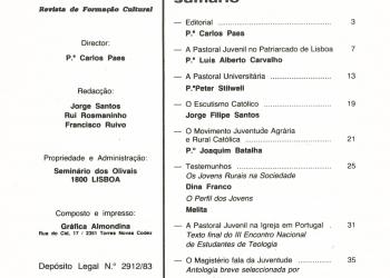 Revista Novellae Olivarum, nº 9 e 10 - Dezembro de 1984 (índice)