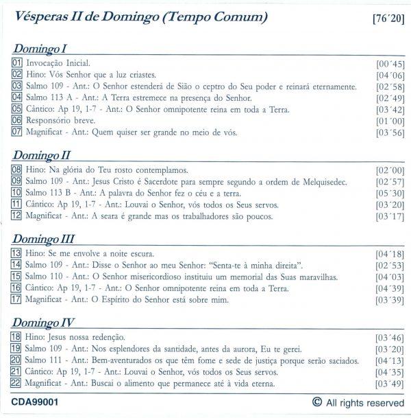 Vésperas II (verso)